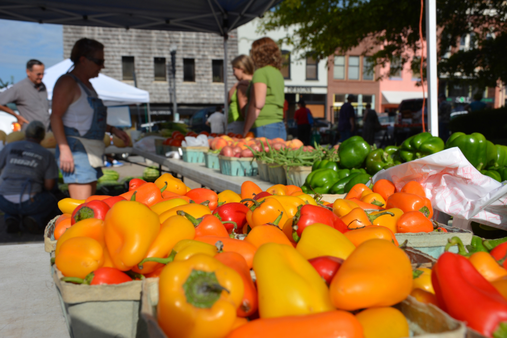 Fruits and vegetables at the Liberty Farmers' Market