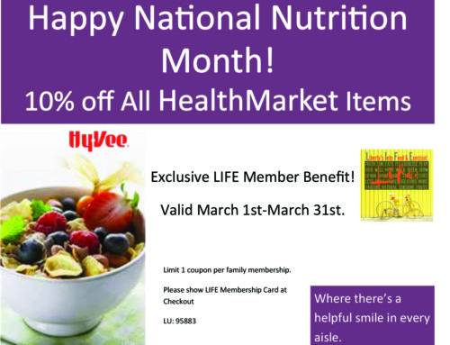 Coupons for L.I.F.E! Members